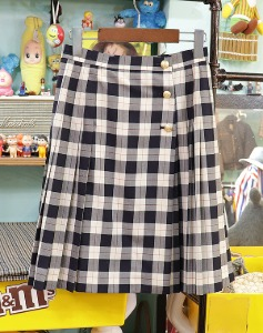 Vintage BURBERRY Check skirt ~우먼25 !!!